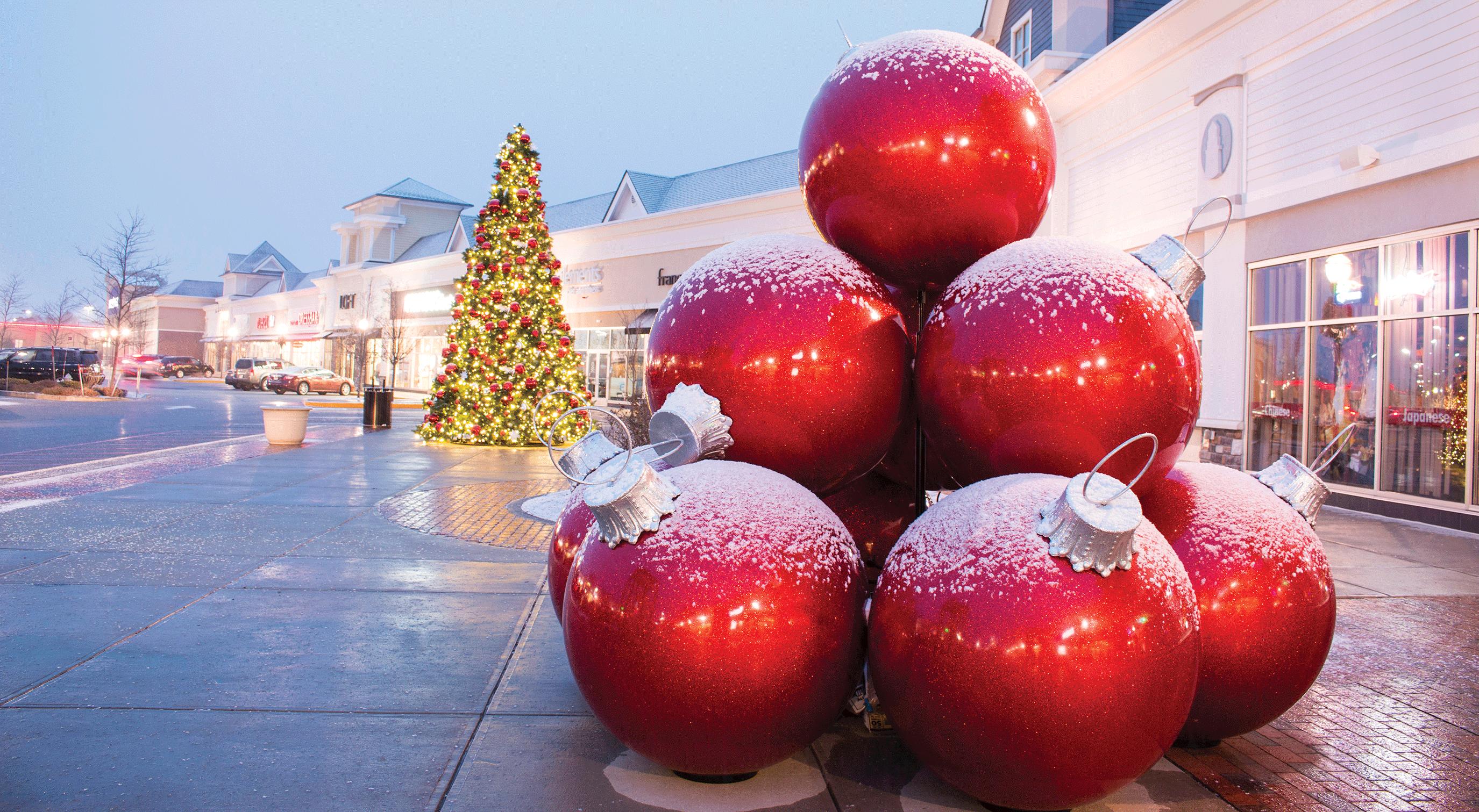 Giant Fiberglass Ornament Stack