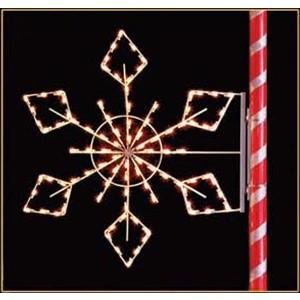 Silhouette Crystal Snowflake Pole Mount Decoration