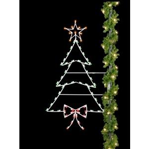 Christmas Tree - Silhouette Pole Mount Decoration