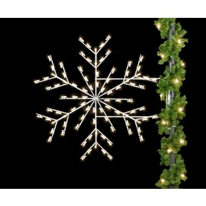 Deluxe Forked Snowflake Light Pole Decoration