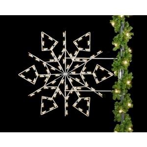 Winterfest Diamond Snowflake Light Pole Decoration