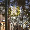 Downtown Santa Monica Christmas Light Pole Decorations