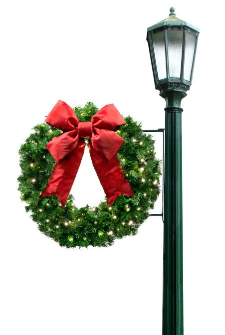 Side Mount Wreath pole Decoration