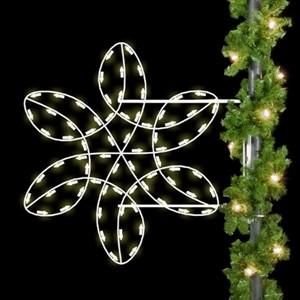 Winterfest Spiral Snowflake Pole Mount Decoration