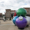 Multicolored Giant ornament stack