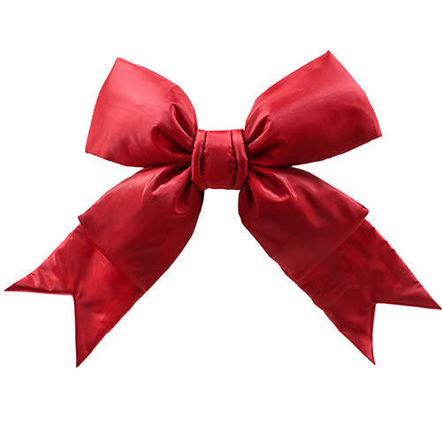 Red Nylon Outdoor Commercial Christmas Bow