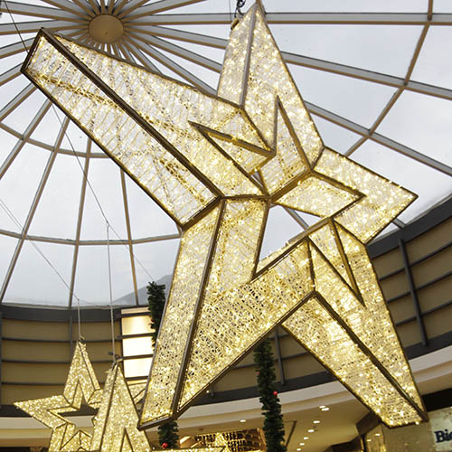 3D Stars Mall Christmas Decoration